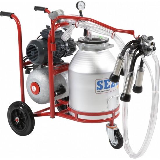 Sezer Pls 1 Alüminyum Güğümlü Süt Sağım Makinası