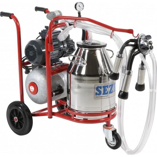 Sezer Pls 1 Çelik Güğümlü Süt Sağım Makinası