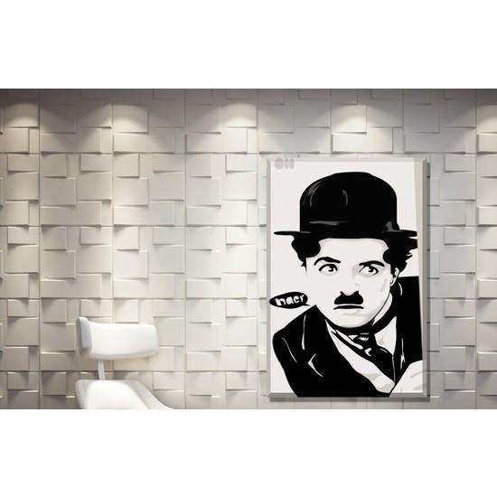 Pia Hediyelik Pia Kanvas Tablo Charlie Chaplin