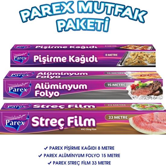 Parex Mutfak Paketi ( Streç Film - Alüminyum Folyo - Pişirme Kağıdı )