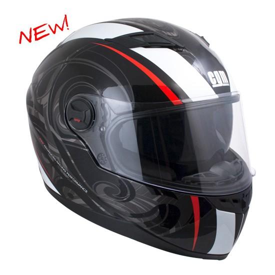 CGM Los Angeles Kapalı Motosiklet Kaskı Siyah-Kırmızı 308G-ALV-85E Xlarge