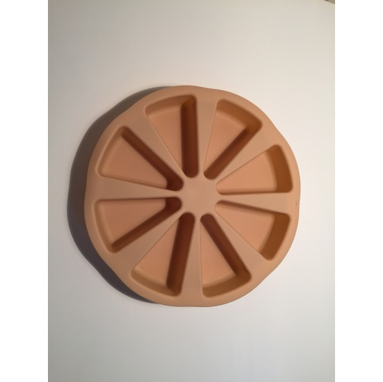 d-sign home Dilimli Silikon Kek Kalıbı - Krem