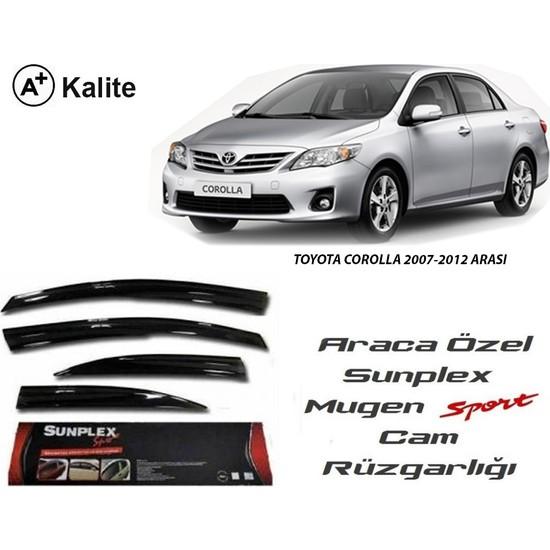 Sunplex Toyota Corolla 2007-2012 Sunplex Mugen Tip 4'Lü Cam Rüzgarlığı