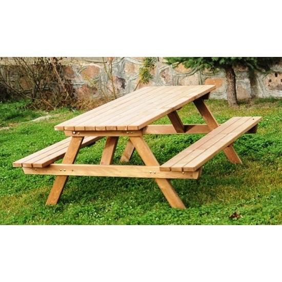 Alaçam 8 Kişilik Piknik Masası-Kahverengi