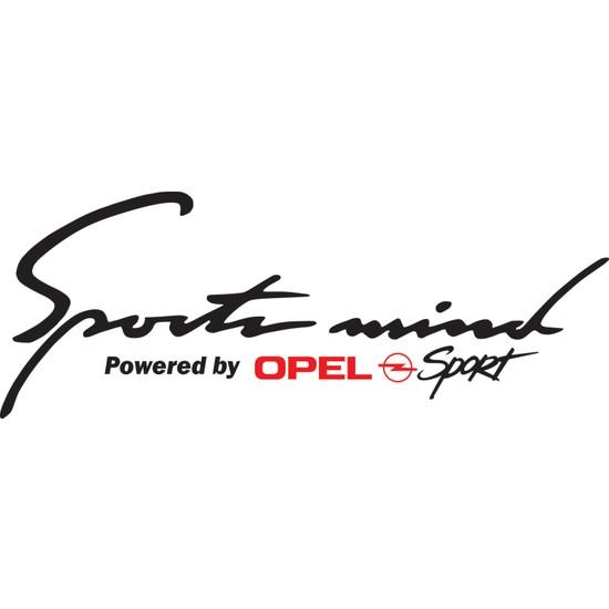 Smoke Sport Mind Opel Sticker Siyah