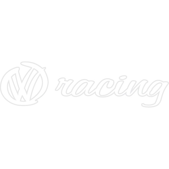 Smoke Wolkswagen R Racing Sticker Beyaz