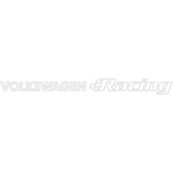 Smoke Wolkswagen Racıng Sticker Beyaz