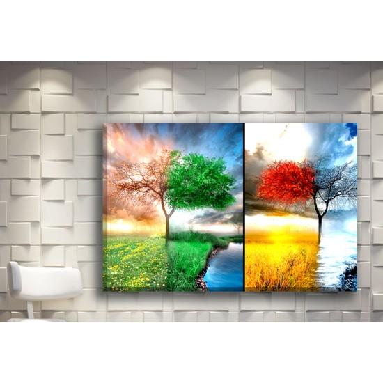 Pia Hediyelik Kanvas Tablo Renkli Ağaçlar