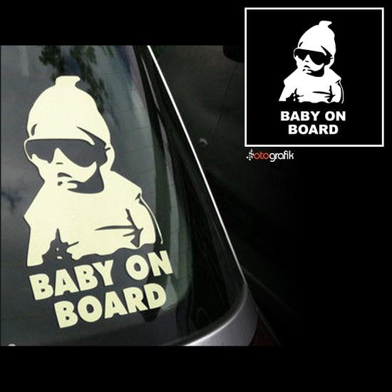 Otografik - Baby On Board Asi Bebek Oto Sticker 15X9Cm