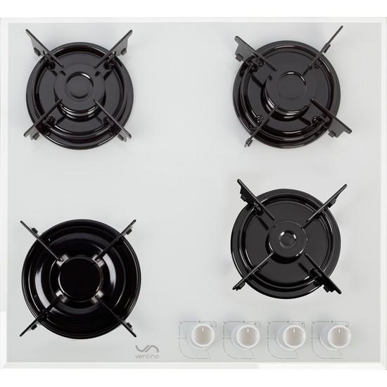 Ventino 3240 Lpg (Tüplü) Beyaz Cam Önden Düğmeli Ankastre Wok Ocak