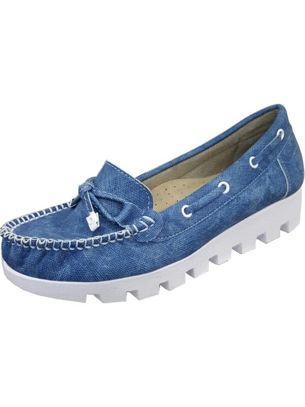 Berk Loafer Mavi Bayan Ayakkabı 6000176