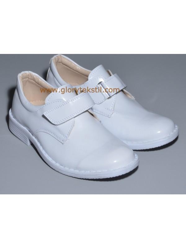 Glory Tekstil Sünnet Ayakkabısı Beyaz Rugan
