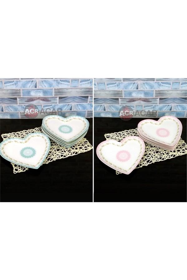 Acar Heart Plates Set 6 Pieces