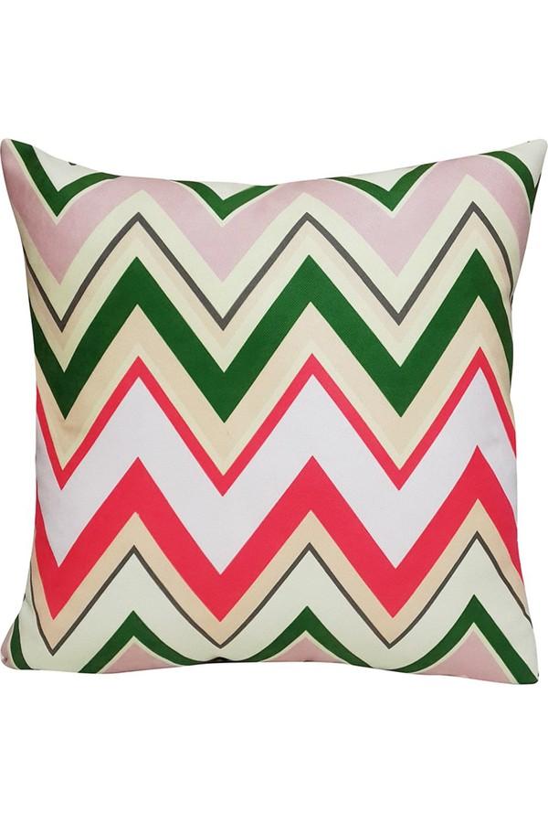 Mrs Green Zigzag Pattern Pillow Pillow