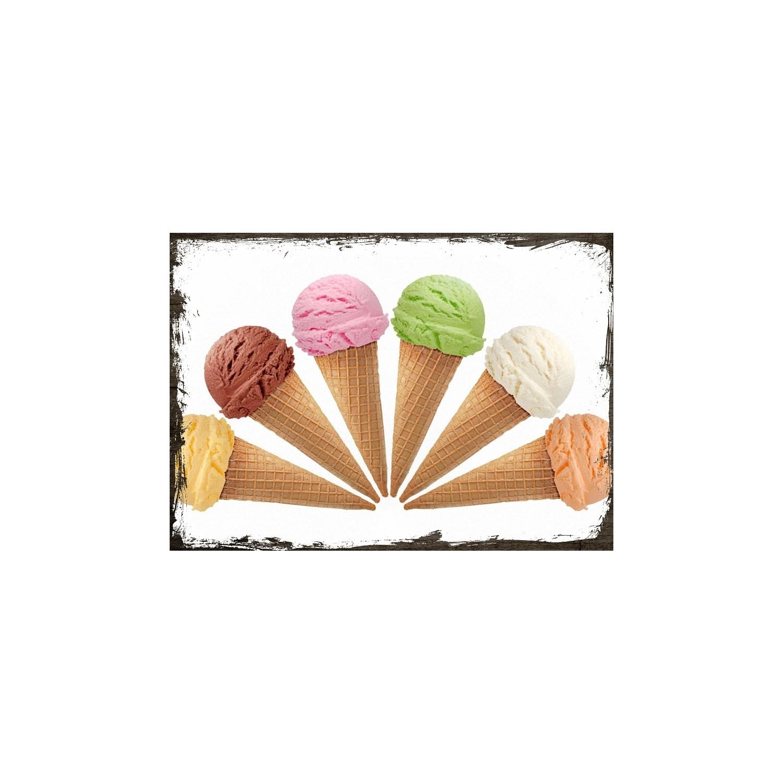 Tablomega Ahsap Tablo Kulahta Dondurma Cesitleri Fiyati