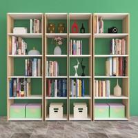 Nur Mobilya Ayaz 4'lü Kitaplık Meşe-Beyaz