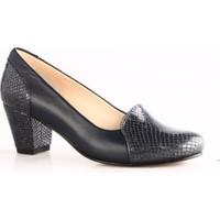 Dgn Kadın 258 Yuvarlak Burun 7 Pont Topuklu Ayakkabı Lacivert Petek
