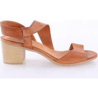 Dgn Kadın 5131 Kısa Topuk Sandalet Taba