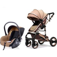 Bebbee Exclusive Travel Sistem Bebek Arabası Kahverengi