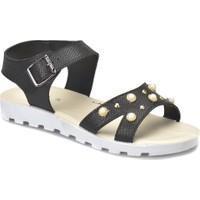 Polaris 81.311702.Z Siyah Kadın Sandalet