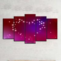 Kanvas Burada ABS5-679 Soyut 5 Parçalı Kanvas Tablo - 120 x 60 cm