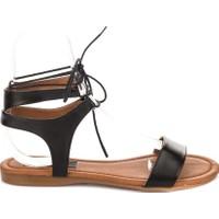 Fox Shoes Siyah Kadın Sandalet B548397509