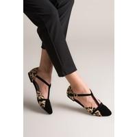Fox Shoes Leopar Siyah Kadın Babet B726881802