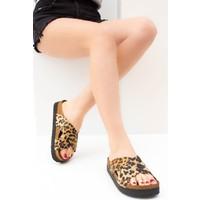 Fox Shoes Leopar Kadın Terlik B777742202