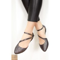 Fox Shoes Platin Kadın Babet D726016907