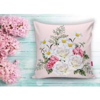 Realhomes Çiçek Desenli Dijital Baskılı Dekoratif Yastık Kırlent Kılıfı