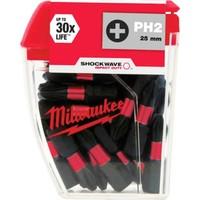 Milwaukee Bits Uç Ph2 25 mm 25'li Paket Shockwave