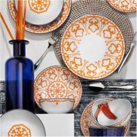 Kütahya Porselen 24 Parça 6 Kişilik Yemek Takımı Turuncu 5966/19 Desen