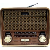 Mega Nostaljik Antika Şarjlı Radyo Müzik Mp3 Çalar Usb Tf Aux 1967U Antıka