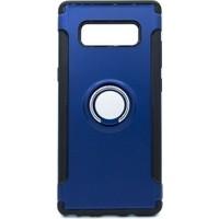 Case 4U Samsung Galaxy Note 8 Kılıf Yüzüklü Darbeye Dayanıklı Lacivert (Mıknatıslı Araç Tutucu Uyumlu)