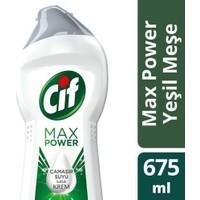 Cif Krem Yeşil Meşe 675 ml (Çamaşır Suyu Katkılı)