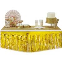 Tahtakale Toptancısı Masa Kenarı Eteği Ve Fon Süsü Metalik Altın/Gümüş