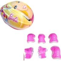 Barbie Paten Bisiklet Koruyucu Kask Dizlik Dirseklik Full Set