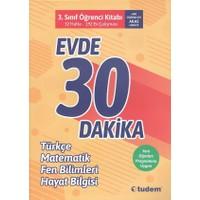 Tudem 3. Sınıf Evde 30 Dakika Türkçe Matematik Fen Bilimleri Hayat Bilgisi Soru Ev Çalışması Yeni 2019 Müfredat