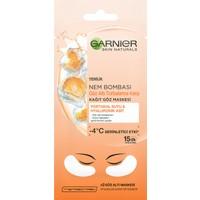 Garnier Nem Bombası Göz Altı Torbalarına Karşı Kağıt Göz Maskesi Portakal Suyu