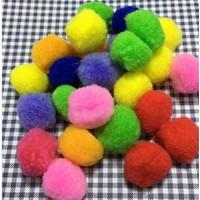 Brode Ponpon 50 Adet Karışık Renkli Ponpon 3 cm