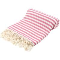Fringe Towels Çizgili Peştemal Pembe