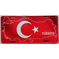 Si̇bi̇ro Türkiye Haritası Dekoratif Plaka