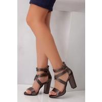 Tarçın TRC01-0012 Kadın Platin Topuklu Ayakkabı