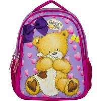 Ümit Çanta Popcorn The Bear Eflatun Kız Çocuk İlkokul Çantası - İki Bölmeli