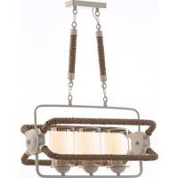Jaka Light 00133 - 3'Lü Halatlı Beyaz Salon Avizesi