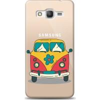Eiroo Samsung Galaxy Grand Prime / Plus Retro Minibus Baskılı Tasarım Kılıf