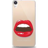 Eiroo HTC Desire 820 Big Kiss Baskılı Tasarım Kılıf