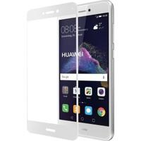 CoverZone Huawei P9 Lite 2017 3D Tam Kaplayan Cam Beyaz