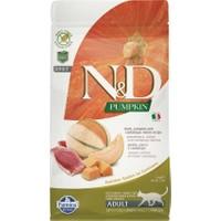 N&D Pumpkin Tahılsız Ördek Etli Bal Kabaklı ve Kavunlu Yetişkin Kedi Maması 1,5 Kg
