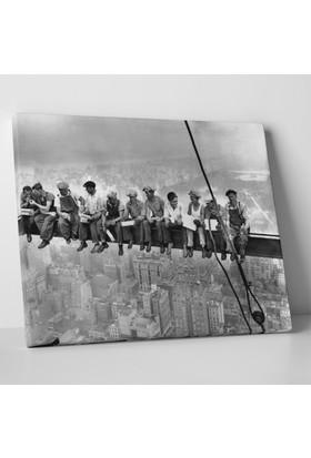 Anonim Bir Gökdelen Tepesinde Öğle Yemeği Kanvas Tablo 40 x 30 cm